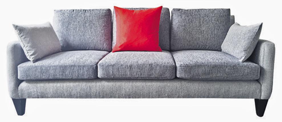3-sitzer Sofa grau